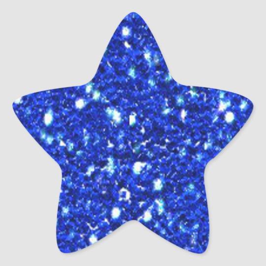 Pretty Royal Blue Sparkly Faux Glitter Look Heart Sticker Zazzle Com Blue Glitter Purple Sparkle Glitter Stickers