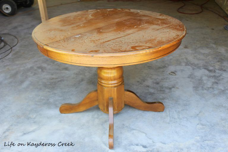 DIY Round Farmhouse Coffee Table Life on Kaydeross Creek