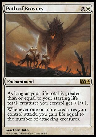 Magic the Gathering: Path of Bravery from Magic 2014 Core Set - #mtg