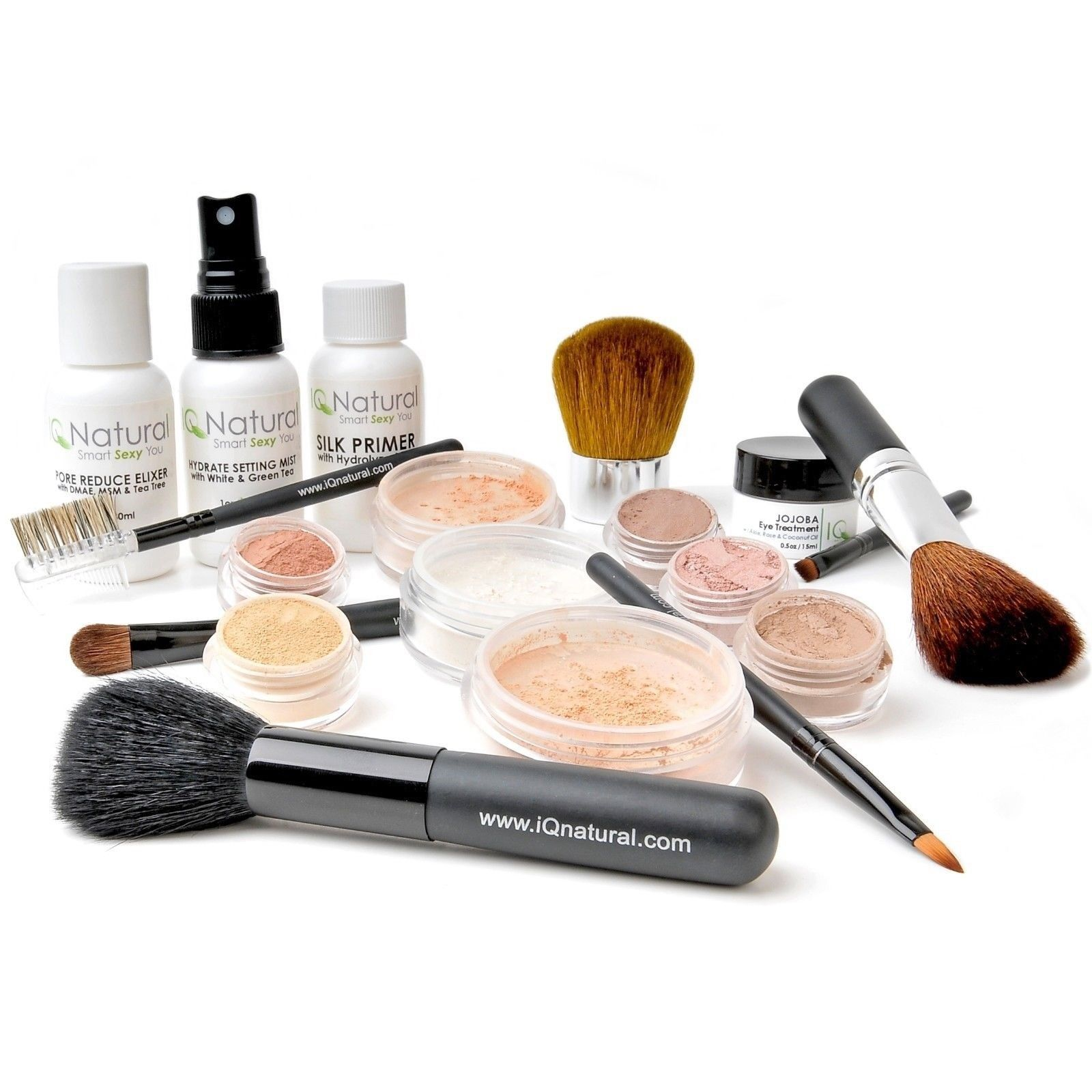 22 XLG Mineral Makeup Kit Bare MEDIUM Flawless Kabuki