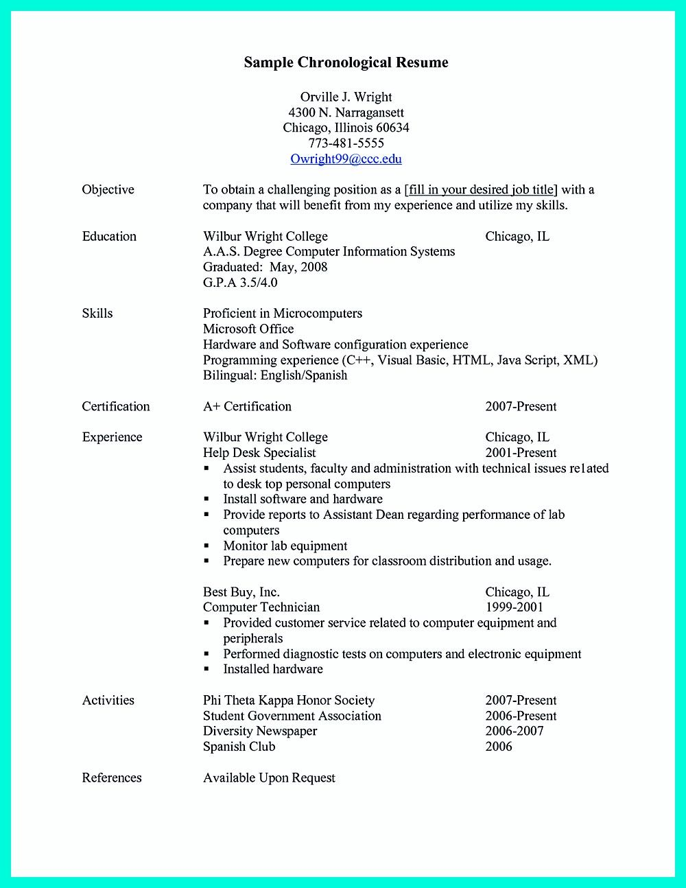Chronological Resume Template Chronological Resume Is Neededpeople In Making Them Understand