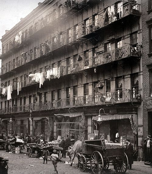 March 1912. Row Of Tenements, 260 To 268 Elizabeth St