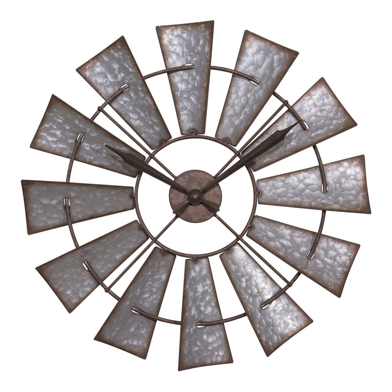 La crosse clock 404 3956 22 inch metal windmill quartz wall clock la crosse clock 404 3956 22 inch metal windmill quartz wall clock 22 metal amipublicfo Images
