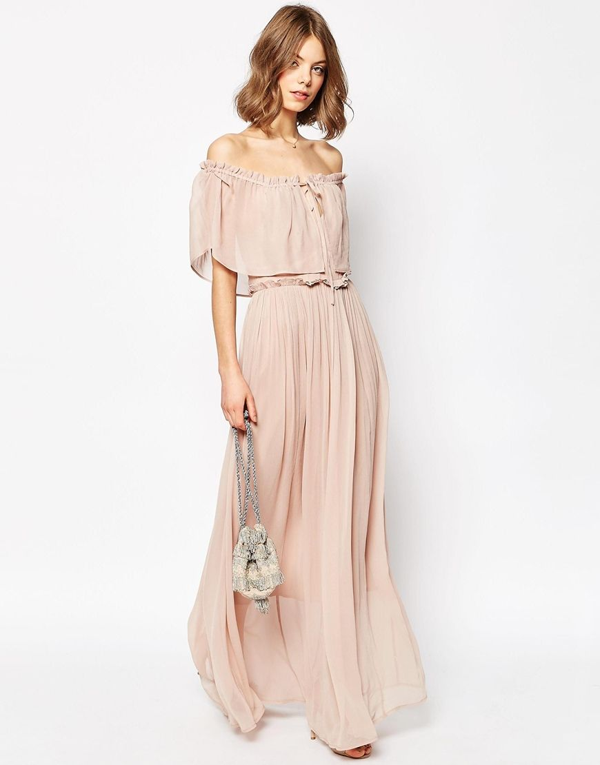 Ruffle and tiered off shoulder maxi dress want pinterest maxi