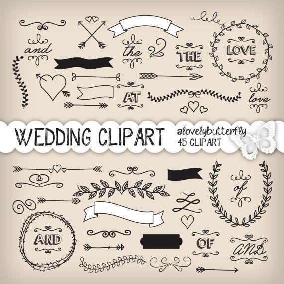 Wedding Laurel Clipart Wedding Invitation Digital Vintage Etsy Clipart Hochzeit Symbol Hochzeit Karte Hochzeit