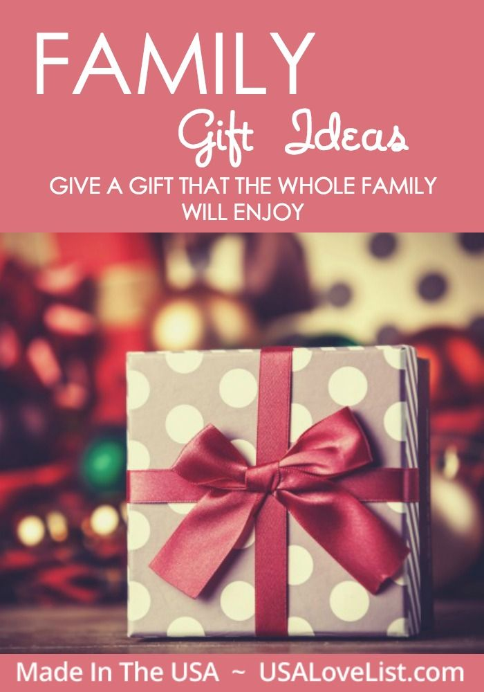 American Made Family Gift Ideas | Whole family gift ideas ...