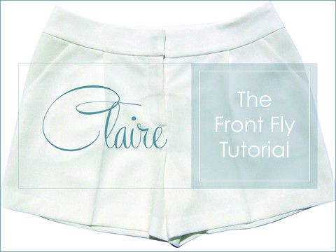 This method of constructing the front fly zipper is a variation on theone I used in the assembly instructions for the Claire and Ellen patterns. The method I show hereis a little morestreamlined and givesvery consistent and professional results. Give it a try and see what you think.