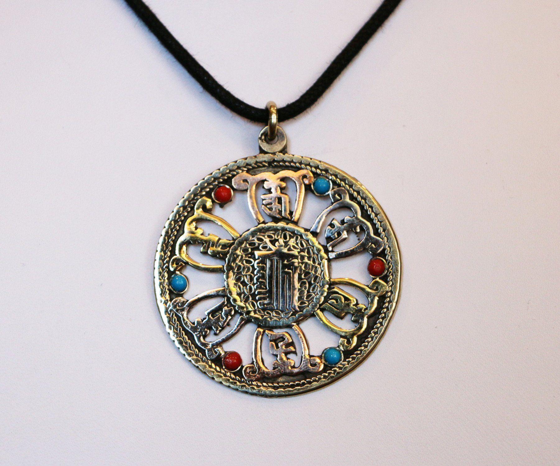 Kalachakra Symbol With Om Mani Padme Hung Products