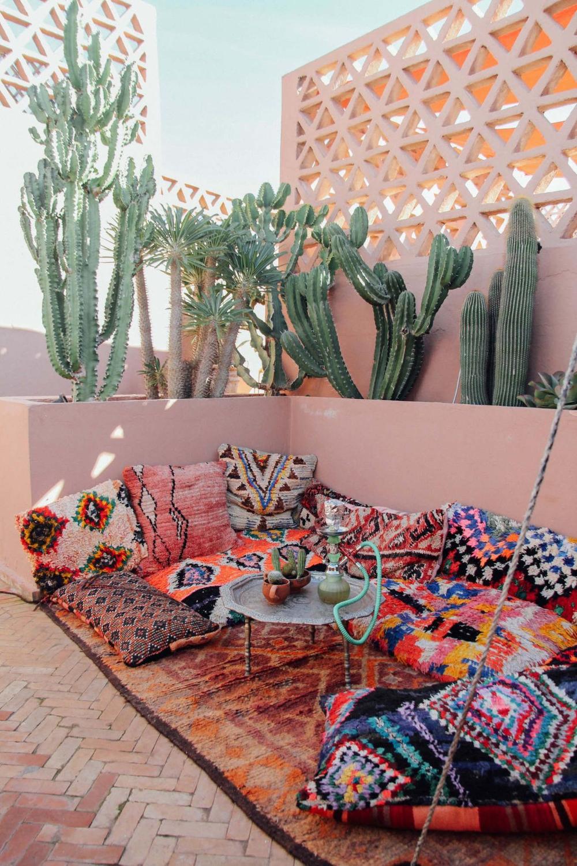 Jardin, terrasse : oser la couleur en extérieur en 20  Terrasse