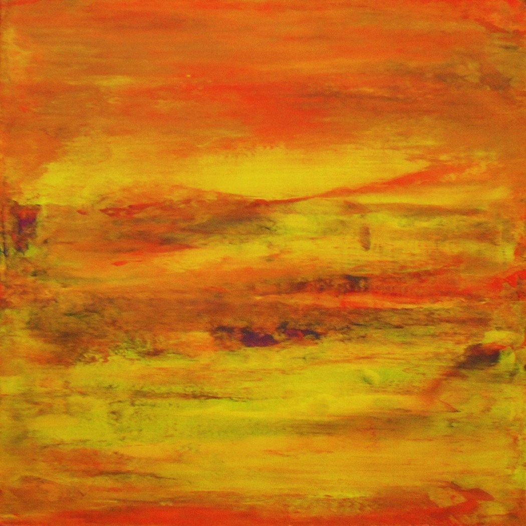 Abstract painting Acrylic Orange Painting Yellow Orange Purple Green ...