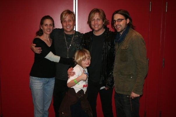 All the Rick Nelson children together - L-R Tracy, Gunnar, Mathew