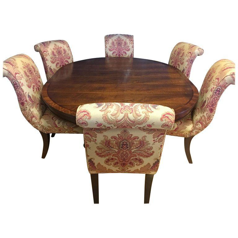 2544046af8e6a Ralph Lauren Henredon Dining Room Set Table and Six Hitchcock Chairs