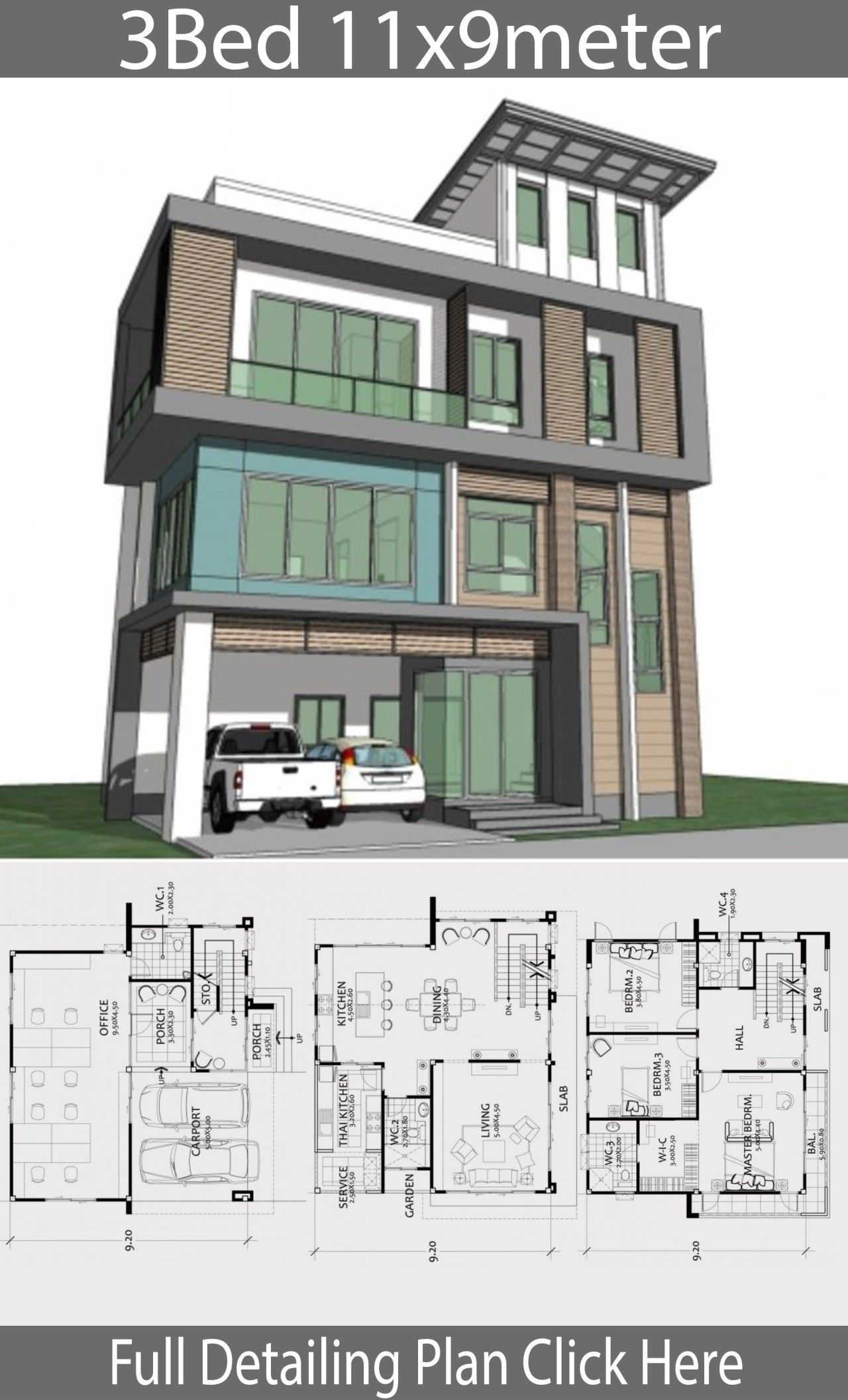 Home Design Plan 11x9m With 3 Bedrooms Home Design Plan Building Plans House Home Design Plans