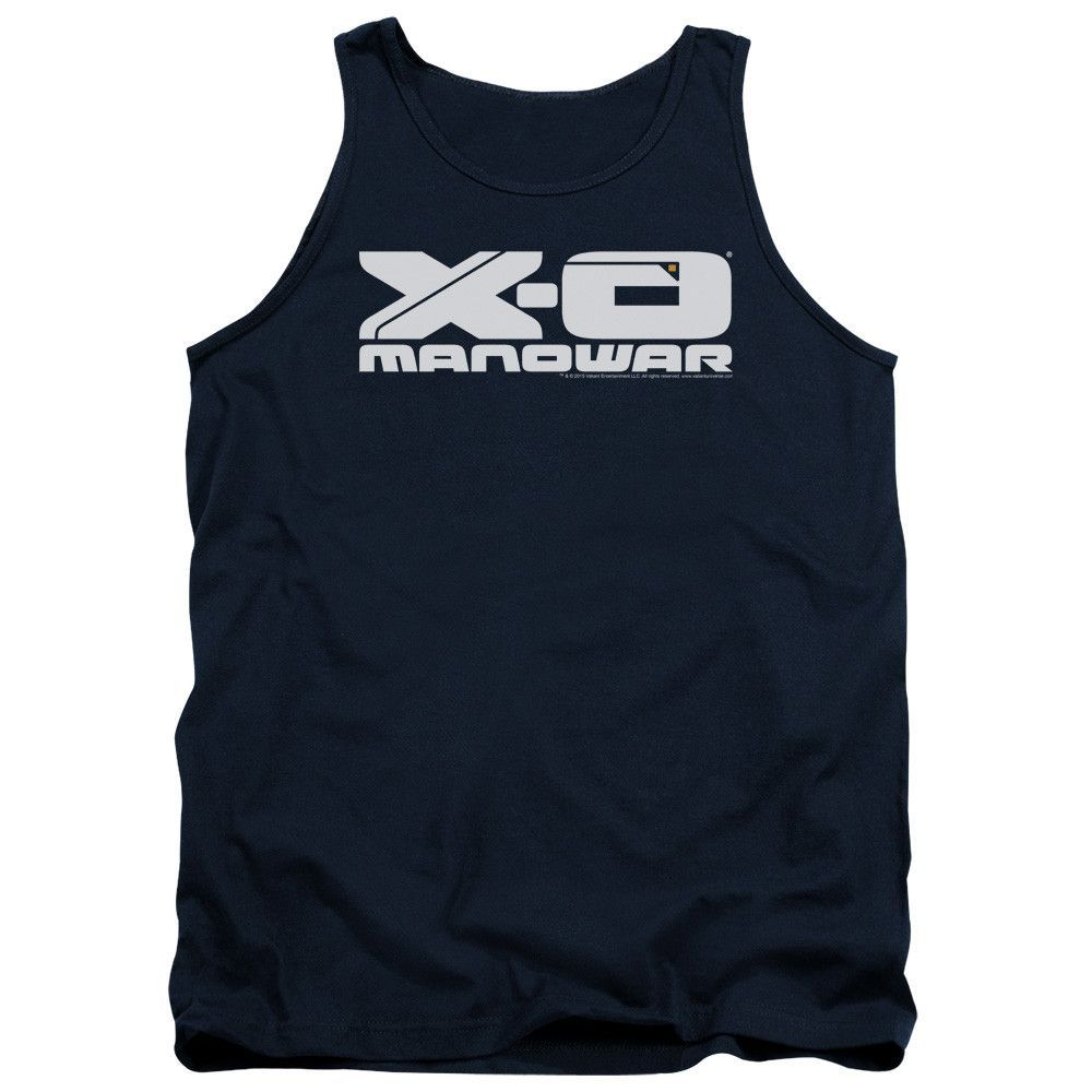 XO MANOWAR/LOGO-ADULT TANK-NAVY