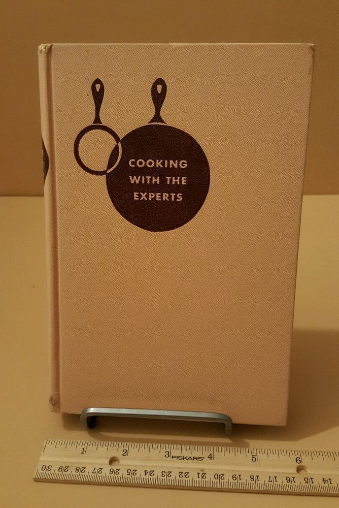 Old 1955 Cooking With Experts vintage cookbook book