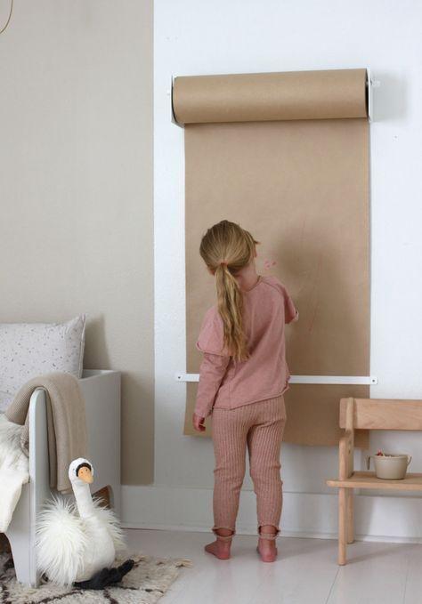 Eine Papierrolle, die ideal für den kleinen Künstler ist #kidbedrooms