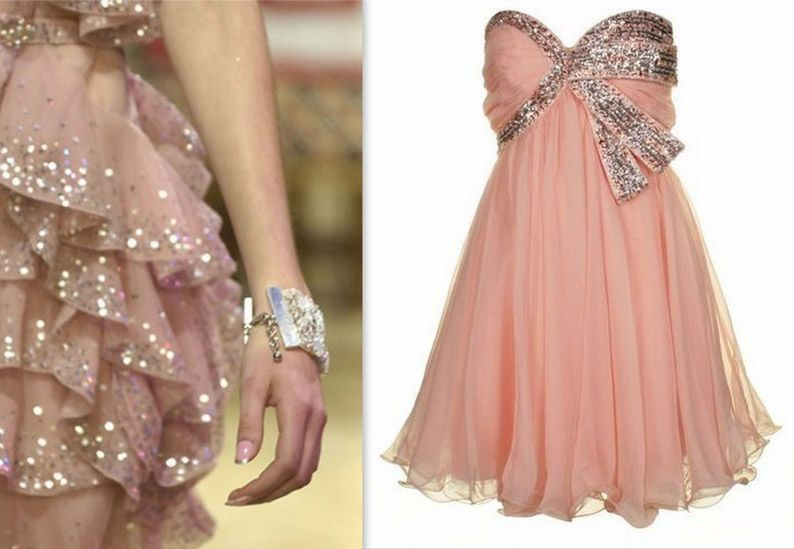 Beautiful Pink Wedding Dresses | beautiful sparkly and pink number, this would be perfect for a young ...