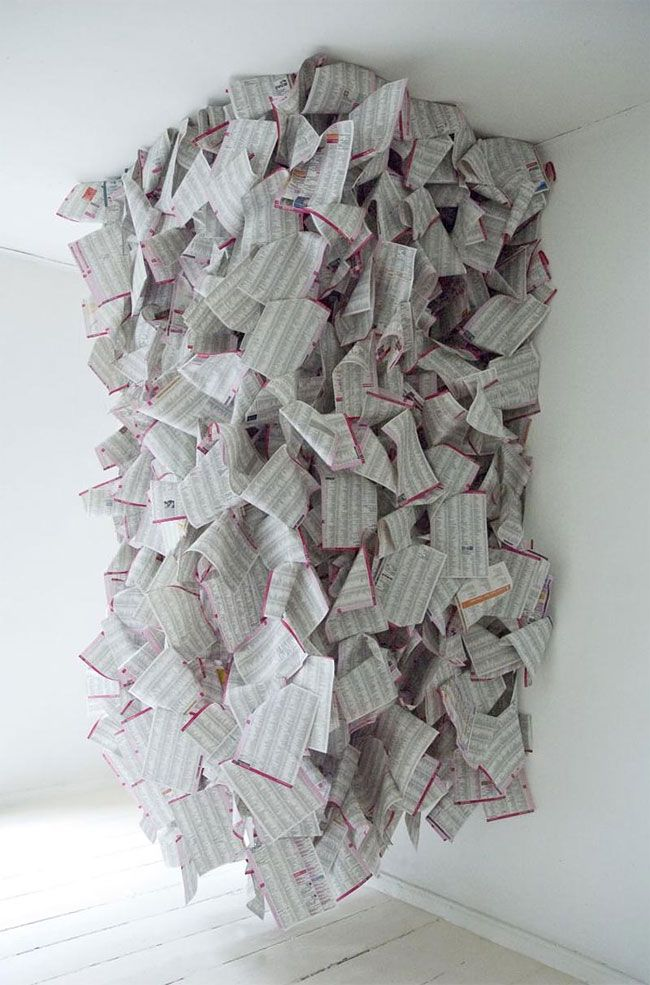Phone Book Sculptures by Gemis Luciani