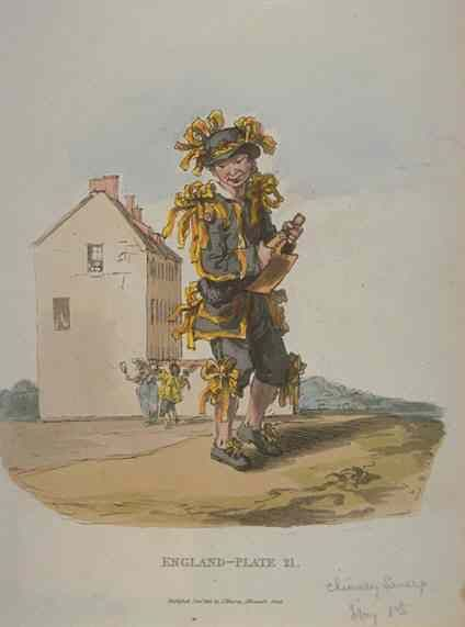 A London chimney sweeper, May Day 1813