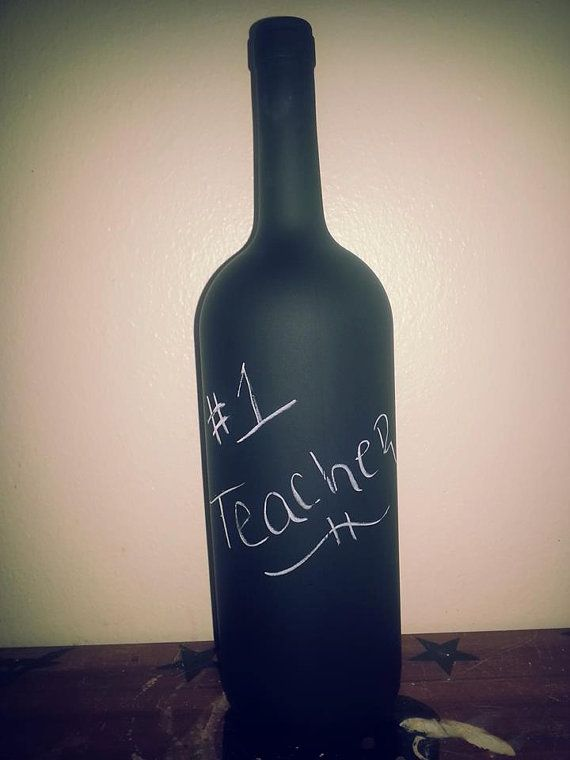 Chalk Board Bottle by Burlapnlaceboutiqu on Etsy, $10.00