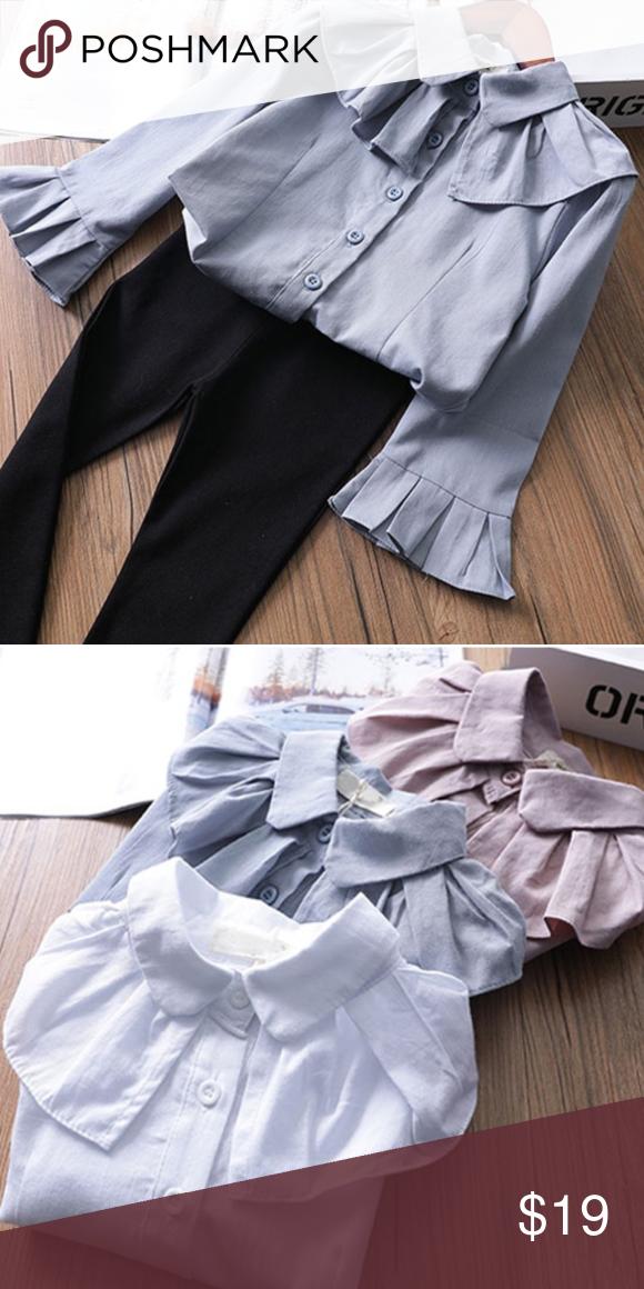 ContiKids Girls/' Long Sleeve Button-Down Blouse
