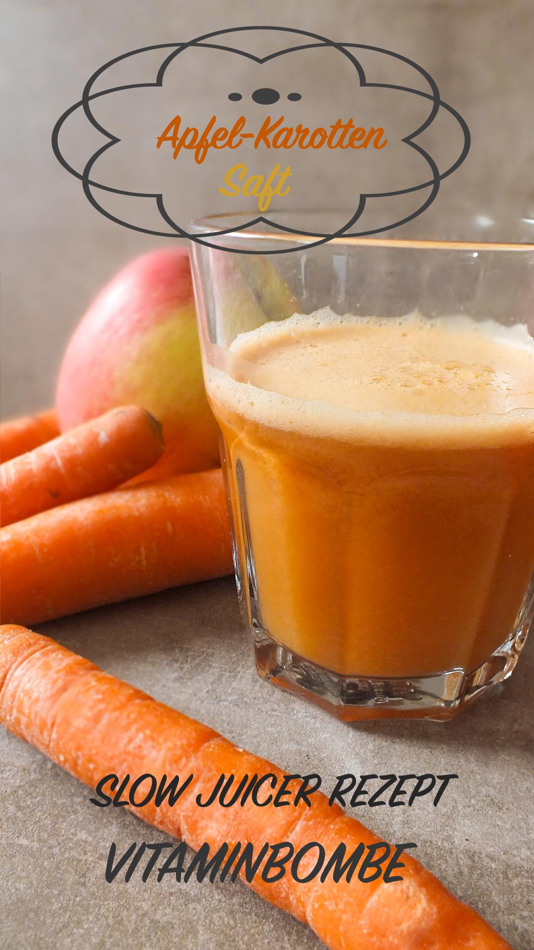 Apfel Karotten Saft | Entsafter rezepte apfel, Entsafter