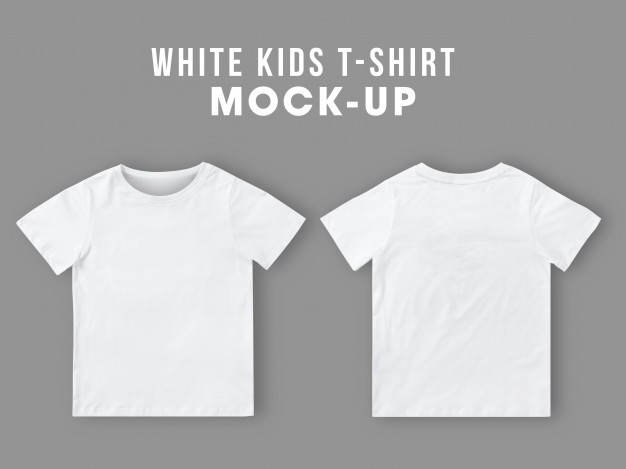 Download Blank White Kids T Shirt Mockup Template