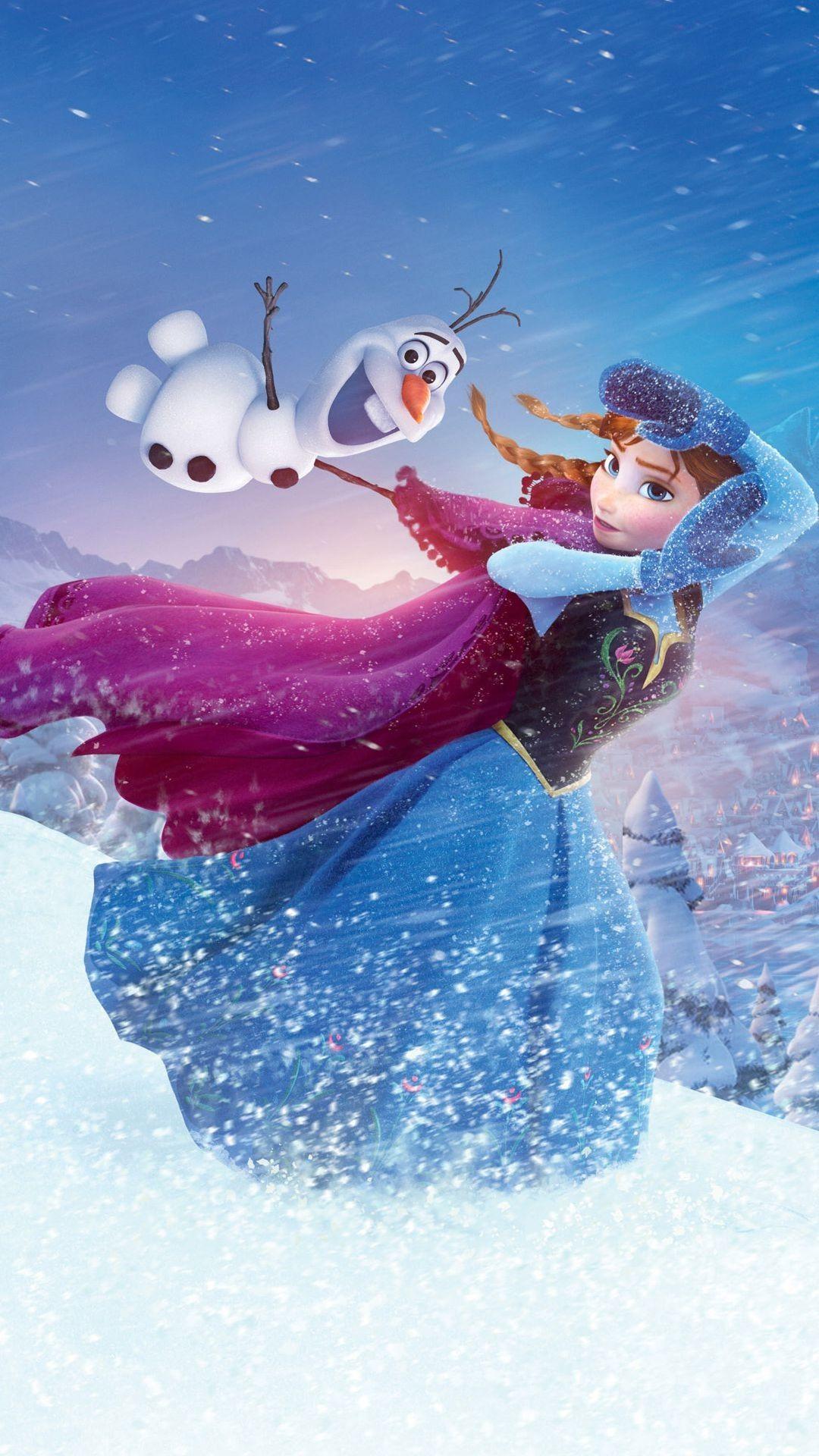 2014 Halloween Frozen Anna Olaf iPhone 6 plus Wallpaper