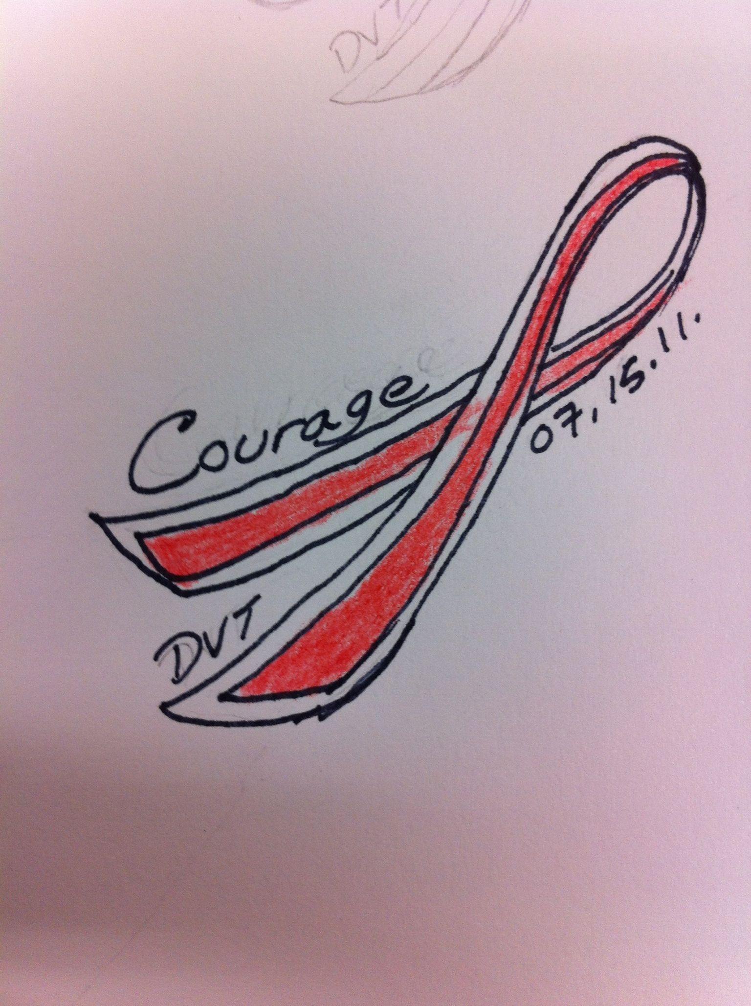 My tattoo im getting in 4 months dvt awareness dvt