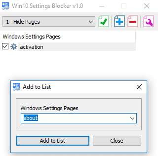 Hide Settings on Windows 10 with a program | News | Windows software