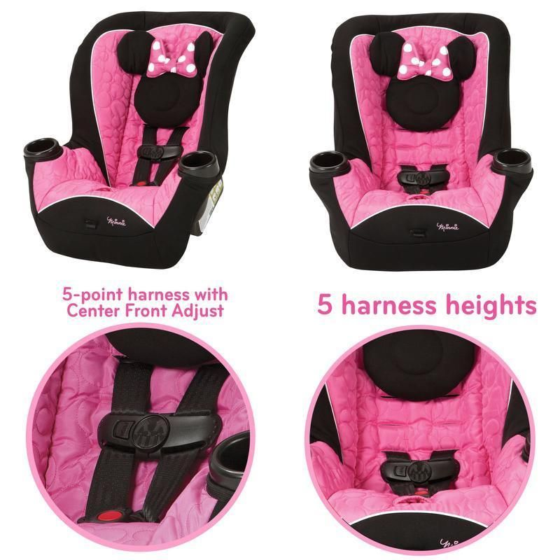 Disney Car Seat Convertible Portable Mouseketeer Minnie Mouse