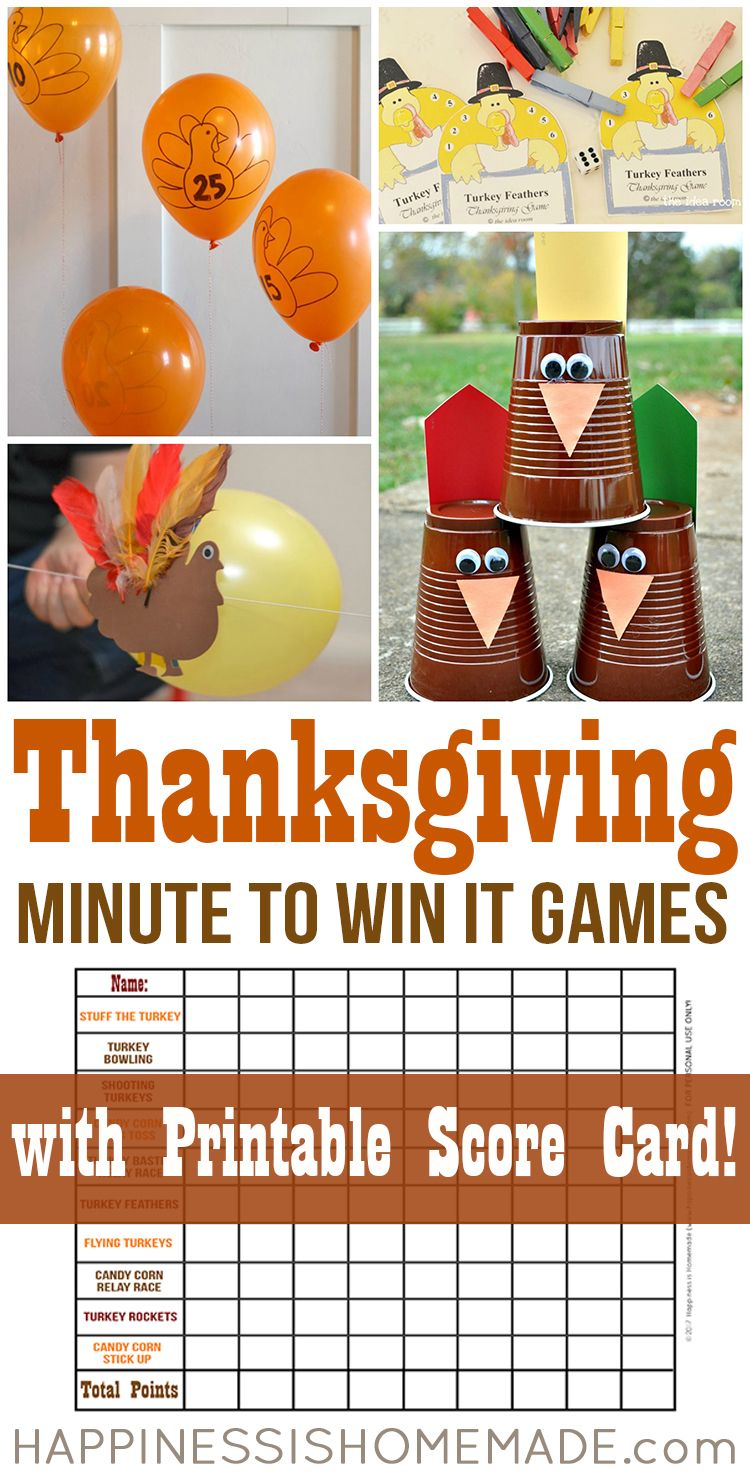 Thanksgiving Mad Libs Printable Game