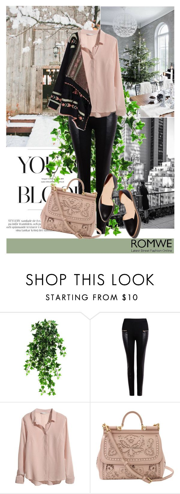 """""""Leave the past where it belongs~!♥"""" by av-anul ❤ liked on Polyvore featuring H&M, Dolce&Gabbana, women's clothing, women, female, woman, misses, juniors, romwe and avanul"""