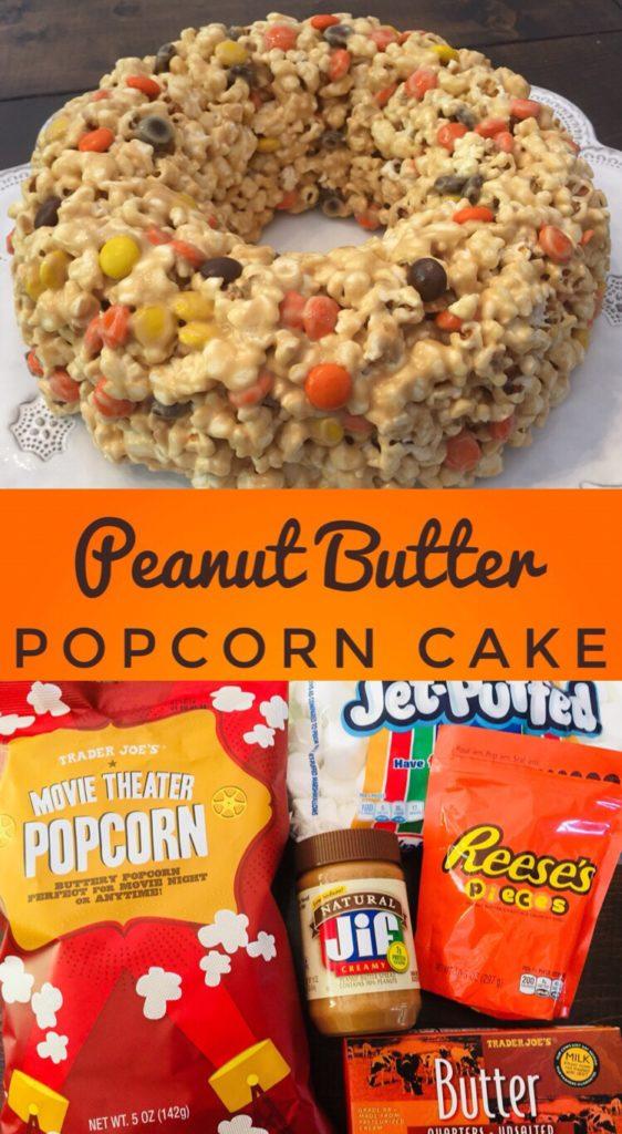 Peanut Butter Popcorn Cake - Glitter On A Dime