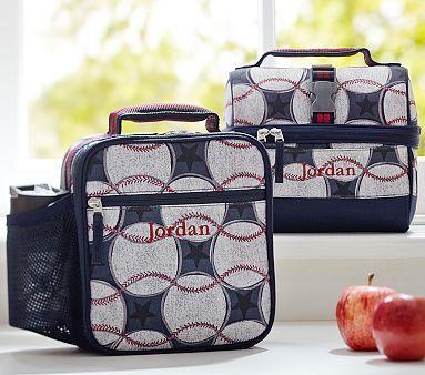 Mackenzie Blue Baseball Lunch Bags Pbkids