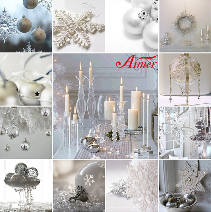 Wonderful White Christmas Party Ideas Part - 13: White Christmas Party Decoration