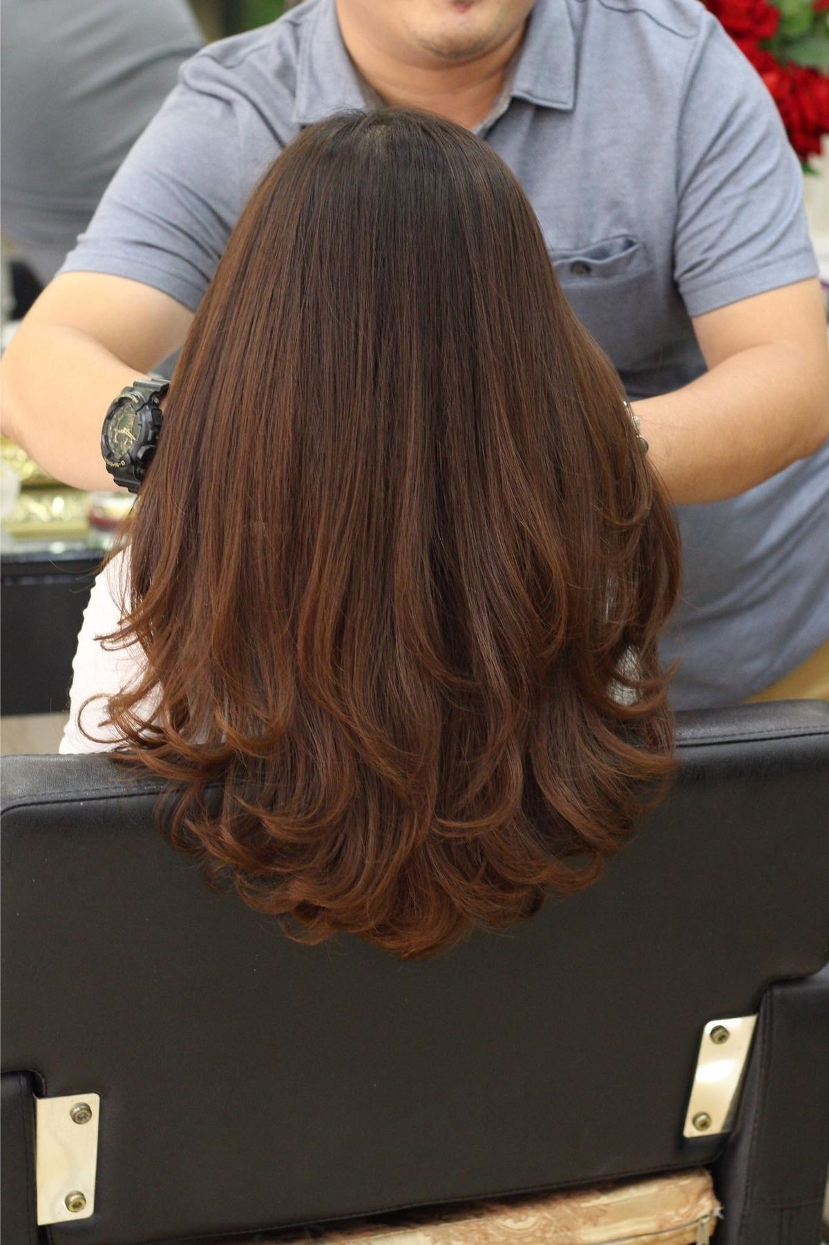 pin von a w auf hair in 2020   lange haare, stufenschnitt