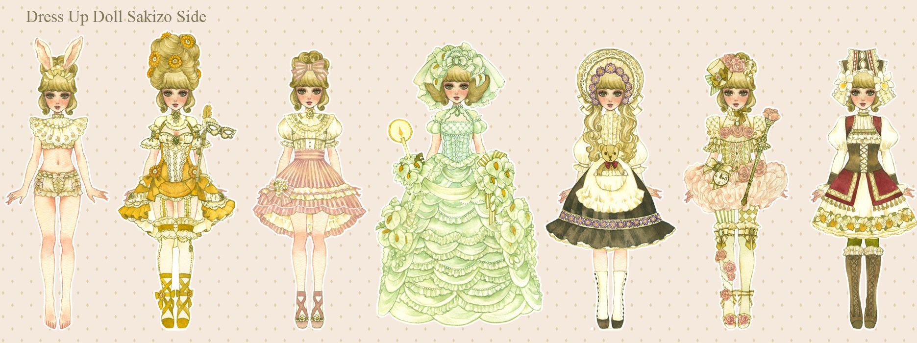 Character Design Dress Up : Dress up dolls art character design pinterest best