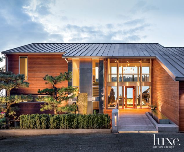 A Lakeside Residence Channels Contemporary Northwest Style Luxe Source Inspired Homes Architecture Northwest Style