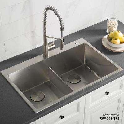 Standart Pro Drop In Topmount 16 Gauge Stainless Steel 33 In X 22 In Double Bowl 2 Hole In 2020 Drop In Kitchen Sink Sinks Kitchen Stainless Industrial Kitchen Sink