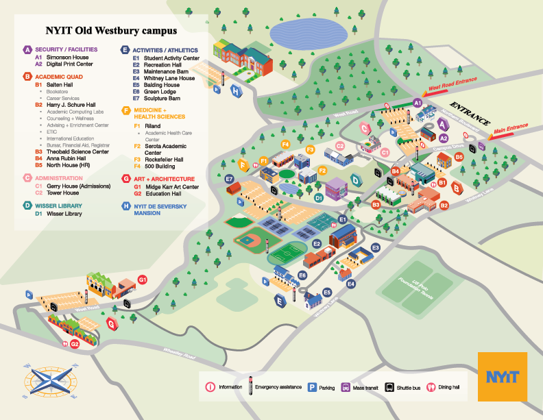 New York Institute of Technology  Campus Map on Behance