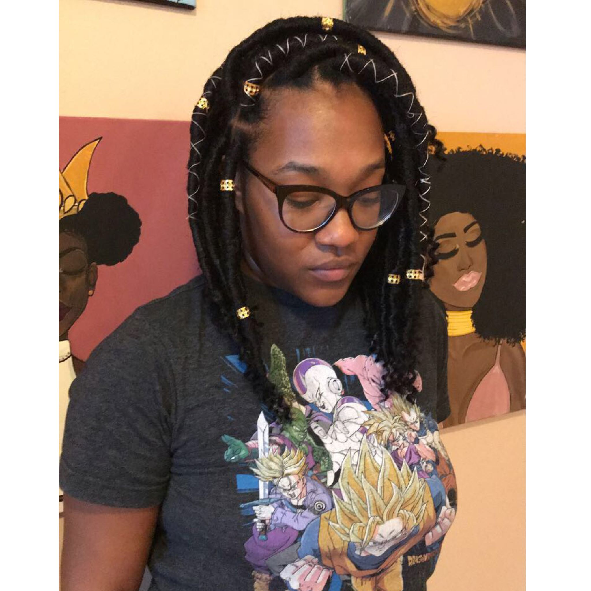 Bob jumbo Faux Locs Follow IG vanity love21 Hair