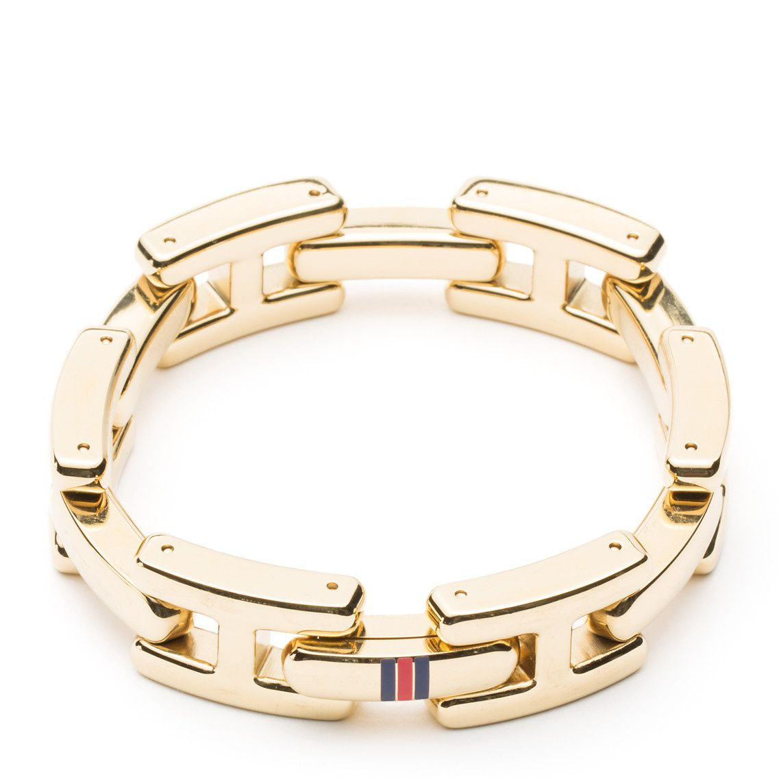 Gold-Plated Open-Link Bracelet - Sales Up to -50% Tommy Hilfiger Zgh4Sy1
