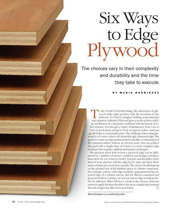 Six ways to edge plywood by Free publisher - issuu #WoodworkingTips