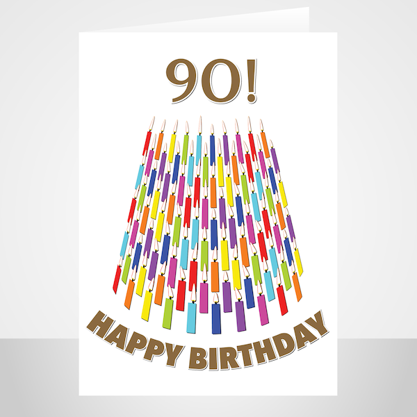 90th Birthday Card For Her For Him Candles Artwork By Stuartconcepts From 5 00 9 90th Birthday Cards 100th Birthday Card Birthday Cards For Her