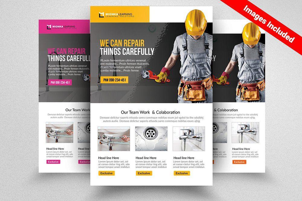 Handyman  Plumber Services Flyer  Fonts