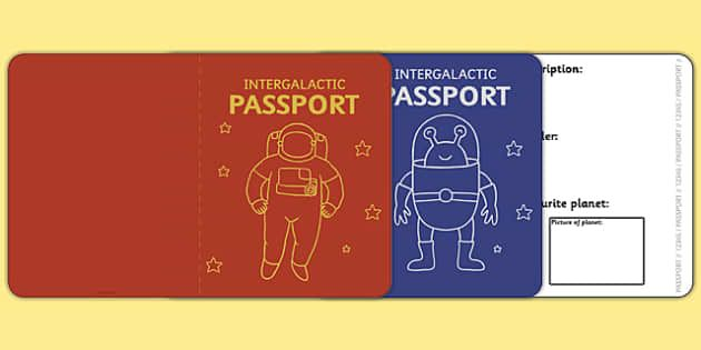 Space passport template passport space intergalactic thme space passport template passport space intergalactic stopboris Choice Image