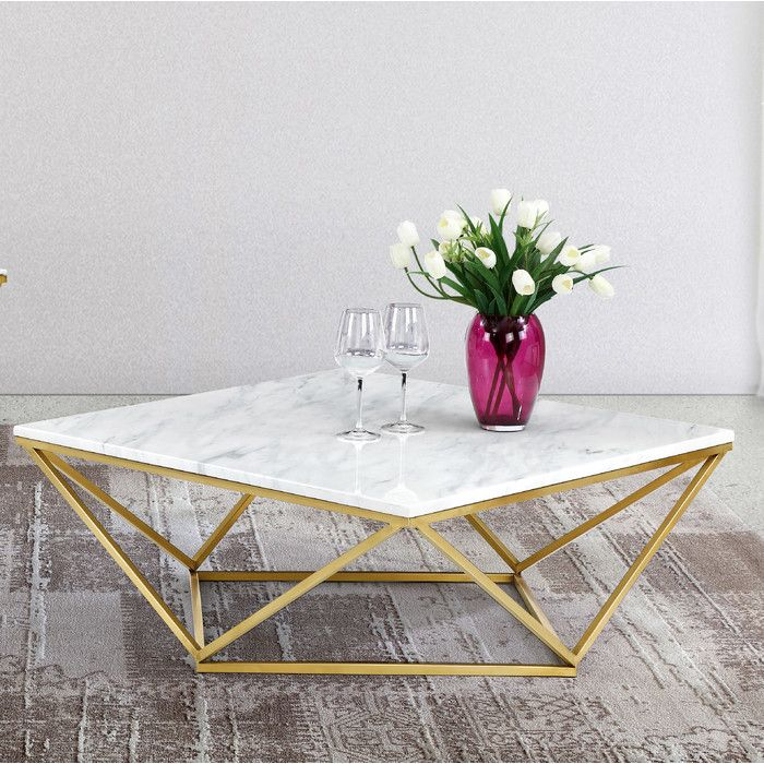 Balance Glamorous Glitz And Luxe Looks With A Touch Of Updated Loft Worthy Appeal With This Striking Coffee Gold Coffee Table Stone Coffee Table Coffee Table