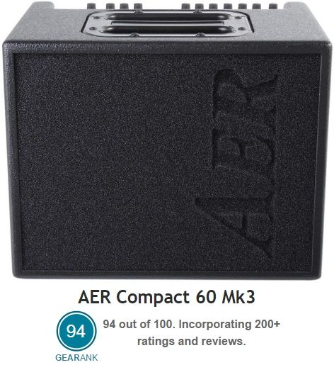 The Highest Rated Acoustic Guitar Amp Between 50 100 Watts Aer Compact 60 Mk3 Acoustic Guitar Amp 2 Cha Acoustic Guitar Amp Guitar Amp Best Acoustic Guitar
