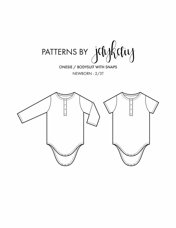 Onsie Pattern : onsie, pattern, Henley, Onesie, Pattern, Picture, Tutorial, Pattern,, Bodysuit, Newborn
